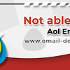 Able to receive AOL emails, but not able to send it