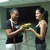 Mi hna Felia con una amiga