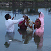Baptising the saved woman, who did come forward from Caste Hindu