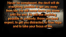Give the devil no foothold - March 03, 2011