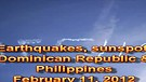 Earthquakes, sunspot, Dominican Republic & Phili...