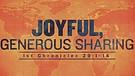 Joyful, Generous Sharing